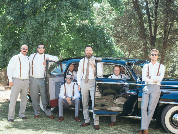 Boho Chic Sonora Wedding | Groom Style Vintage Cadillac