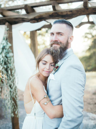 Boho Chic Sonora Wedding | Bride and Groom