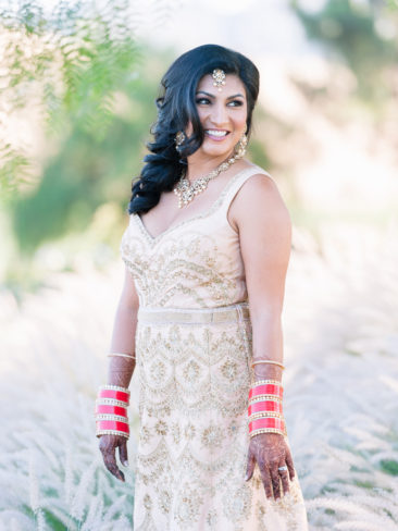 Elegant Indian Wedding at Greengate Ranch | Indian Bride with Henna
